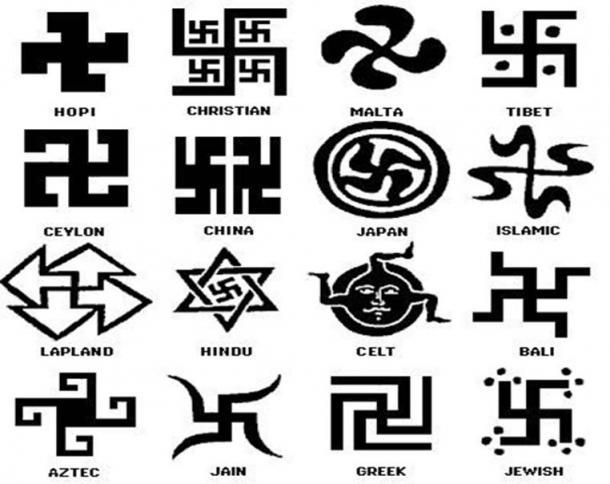 Swastikas around the world.