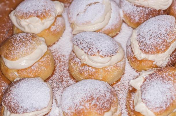 Swedish semla Lenten bun