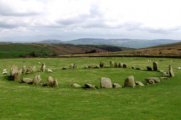 Swinside stone circle, in the Lake District, England.