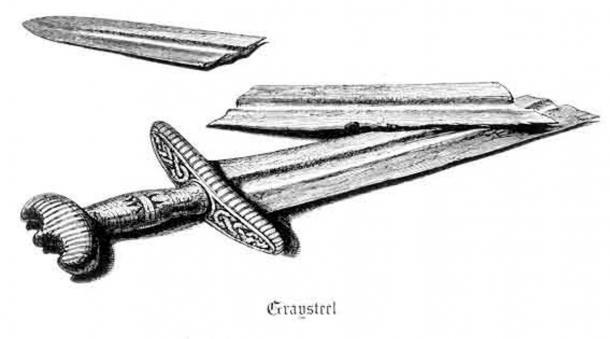 The Sword Graysteel ('Grásíða'), from Gísla saga (1866 English translation).
