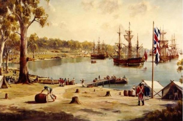 Sydney Cove, First Fleet, 1788, Australia