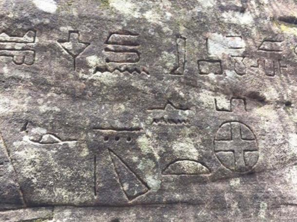 Symbols at Kariong some claim to be early form Egyptian writing. (Courtesy of Tripadvisor)