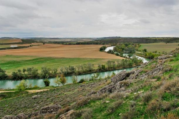The Tagus River from the Caraca archaeological site in Driebes, Spain, where Hannibal's first great victory is believed to have taken place. (Equipo Arqueológico Caraca)