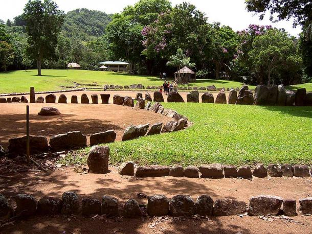 Taino ceremonial ball court in Puerto Rico