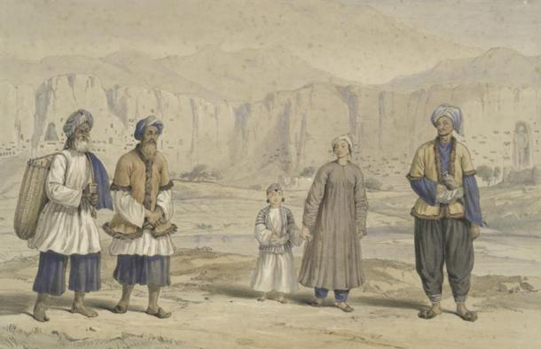 Tajiks in Bamiyan (1843).