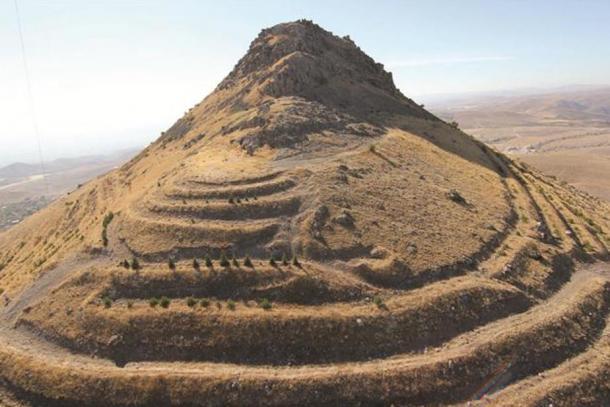 The ruins of Geval Castle sit atop Takkel Mountain in Konya's Selçuklu district.