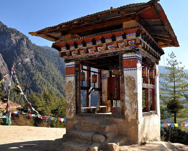 Taktsang prayer wheel,  Paro Taktsang Monastery, Bhutan