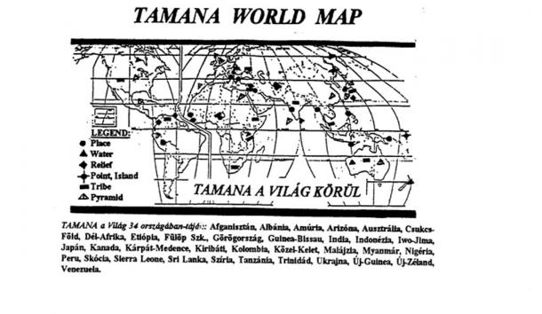 Tamana world map (Courtesy author)