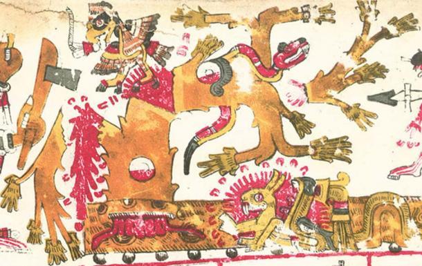 Tamoanchan described in the Codex Borgia. (Public domain)