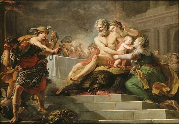 Tantalus' banquet for the gods. (Public Domain)