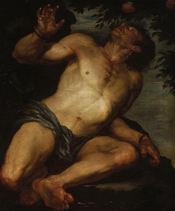 Tantalus' torture is never-ending. Oil painting, 1630s-1640s.