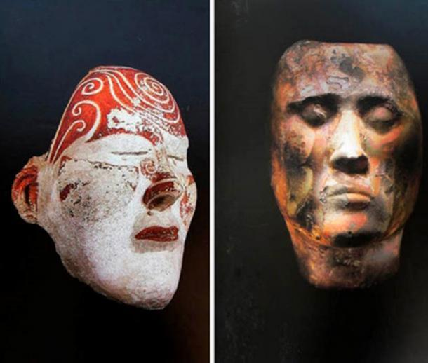 Tashtyk death masks found earlier are held in the State Hermitage Museum in St. Petersburg, along with other museums. Pictures: Boris Dolinin