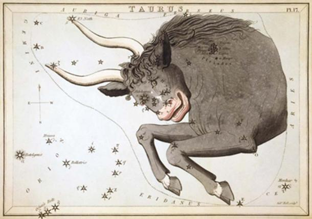 Taurus the Bull constellation (Public Domain)