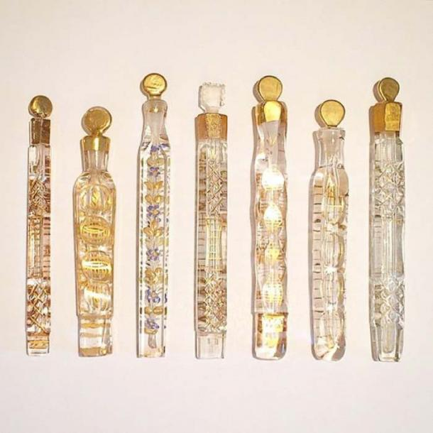 Tear catchers? Not likely. These were probably used to hold scents, not tears. (Dolly of London)
