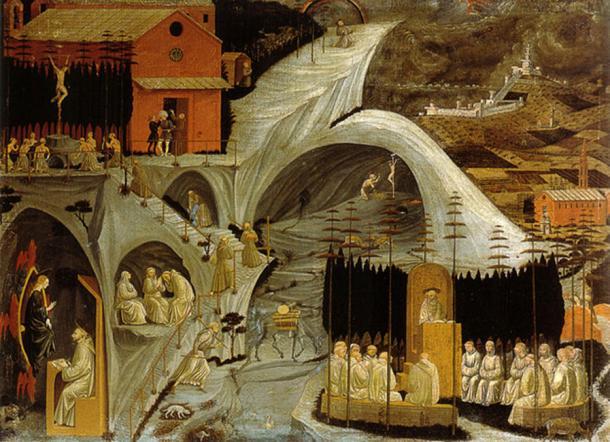 Tebaide, by Paolo Uccello, Galleria dell'Accademia, Firenze. (Public Domain)