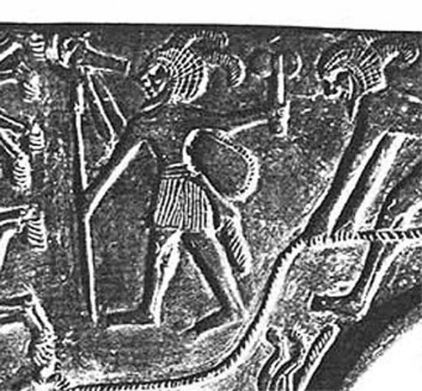 Tehenu depicted on Amratian pottery. (Author provided)