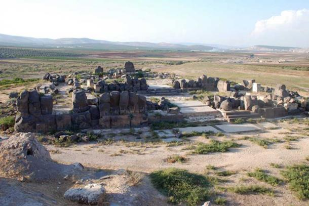 Tell Ain Dara, south of Afrin, Syria. Temple from southeast before the airstrike.