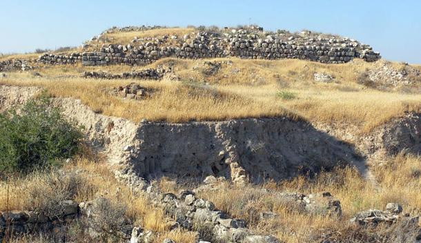 The remains of the palace—fort at the Lachish archaeological site. Tell ed-Duweir, Israel.