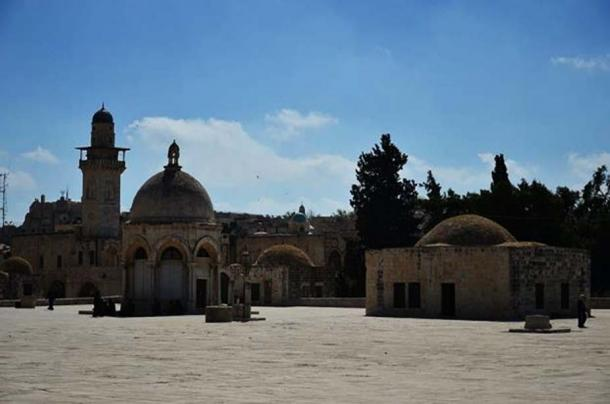 The Temple Mount and the Dome of the Rock, also known as the Haram Ash-Sharif.