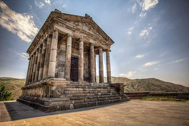 The Temple at Garni dedicated to Mithra.