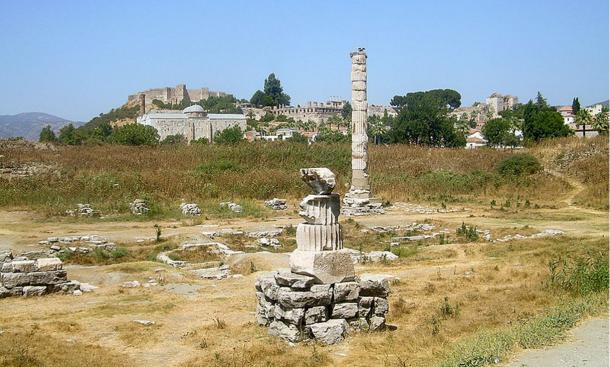 Little remains of the Temple of Artemis in Ephesus