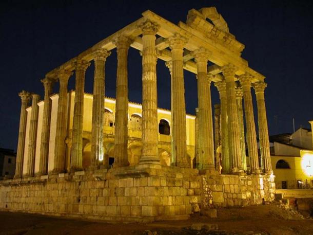 Temple of Diana, Mérida, Spain.