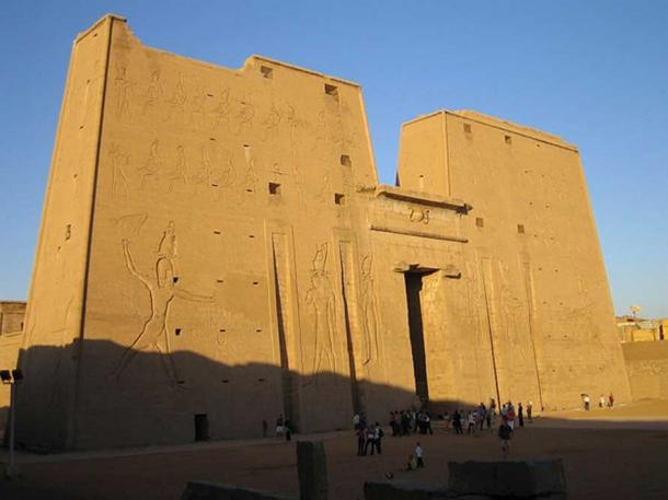 The front of the Temple of Edfu.