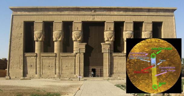 Temple of Hathor, Dendera and the Lunar eclipse on 25 September 52 BC.