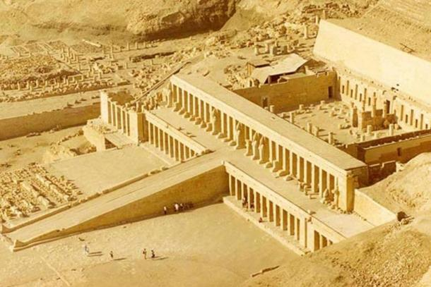 The Temple of Hatshepsut at Deir el-Bahri.