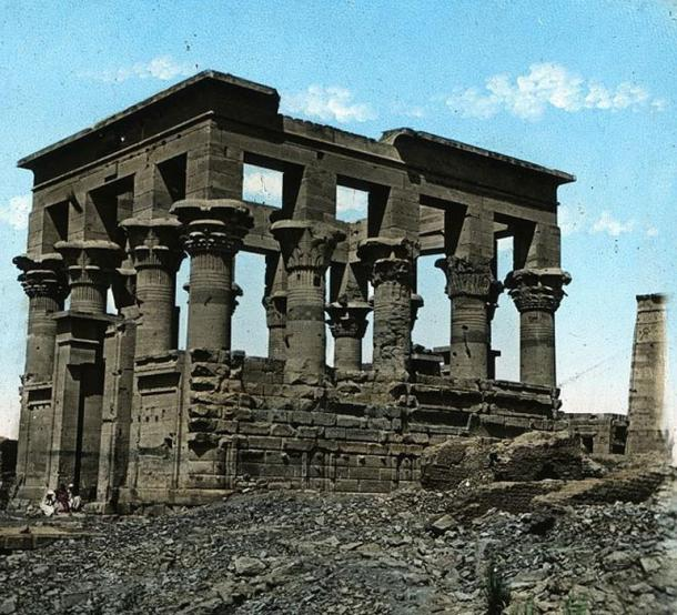 Temple of Isis in Philae, Egypt. (c. 1923) Brooklyn Museum Archives.