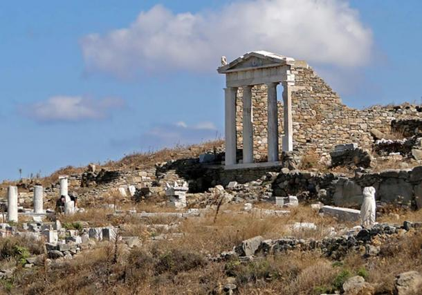 Temple of Isis in Delos, Greece.