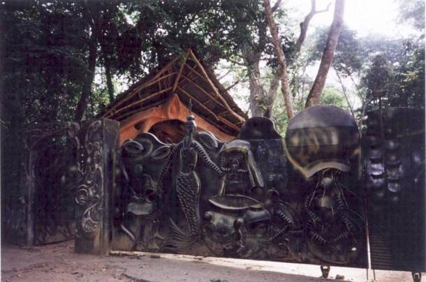 Temple of Oshun in the Sacred Grove