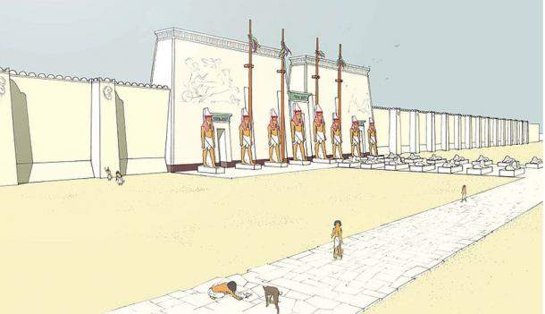 Artist's impression of the Temple of Ptah