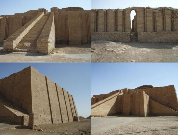 Photos taken of the Temple of Ziggurat of Ur, by Kaufingdude, 2007.