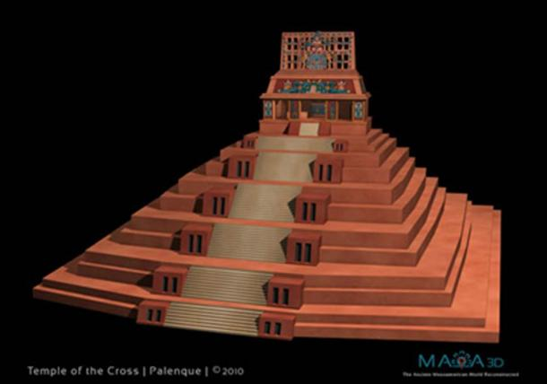 Temple of the Cross. Reconstruction by permission of Maya 3D