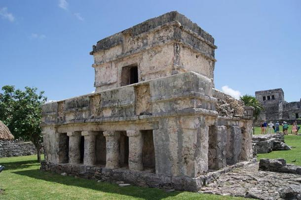 Temple of the Frescoes at Tulum, Mexico