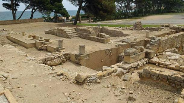 Temple to Serapis at Empúries.