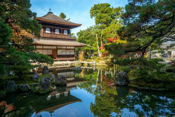 Temple of the Silver Pavilion in Kyoto, Japan, which was built by Yoshimasa of the Ashikaga Shogunate. (Richie Chan / Adobe stock)