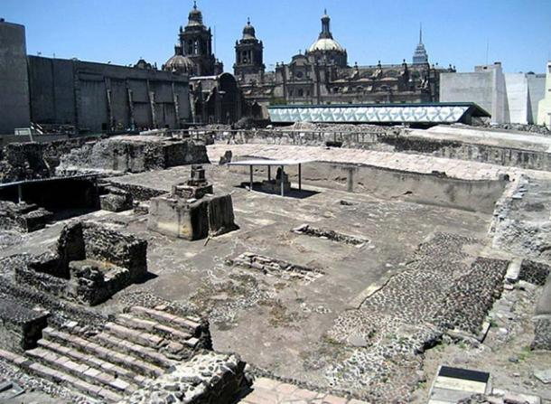 The remains of Templo Mayor in Mexico city