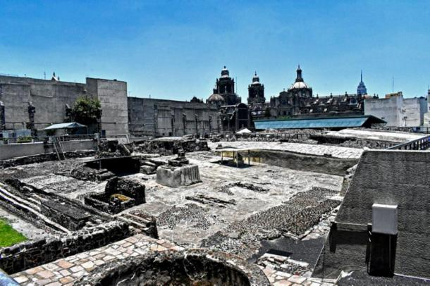 Templo Mayor, Mexico City, where the gold bar was found. (MichRoudoy / CC BY-SA 4.0)
