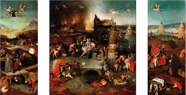 'The Temptation of St. Anthony' by Hieronymus Bosch, whose paintings have been compared to the writings of Teofilo Folengo.
