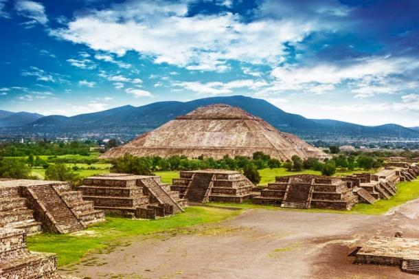 The Ancient site of Teotihuacan, Mexico.