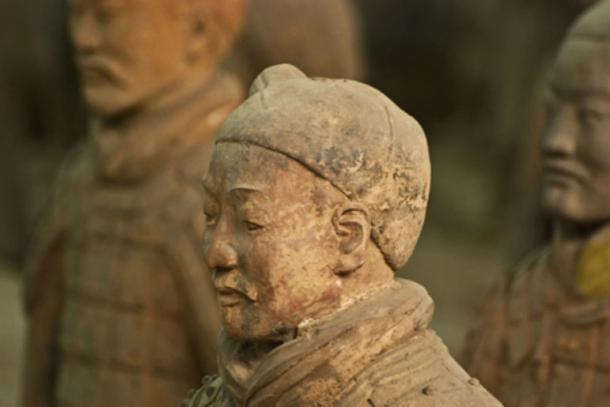 Statue from the 'Terra Cotta Array', China.