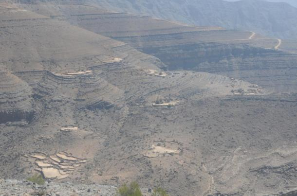 Terraced fields allow the Shihuh to grow crops at high altitudes.