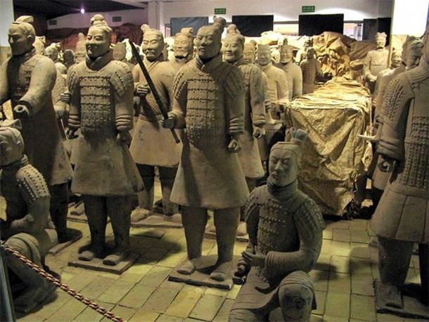 Terracotta Army exhibition in Gdynia, Poland, August 2006.