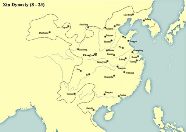 Territory Map of Xin Dynasty (8 - 23 AD). (SS/CC BY-SA 4.0)