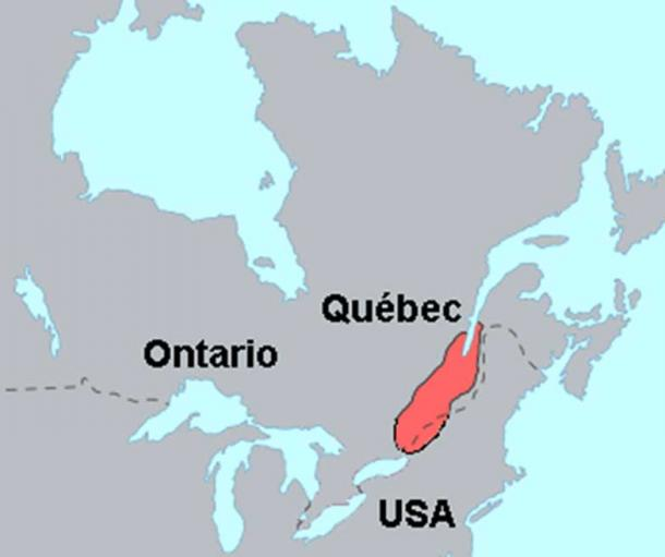 Territory occupied by the St. Lawrence Iroquoians/Haudenosaunee, circa 1535.