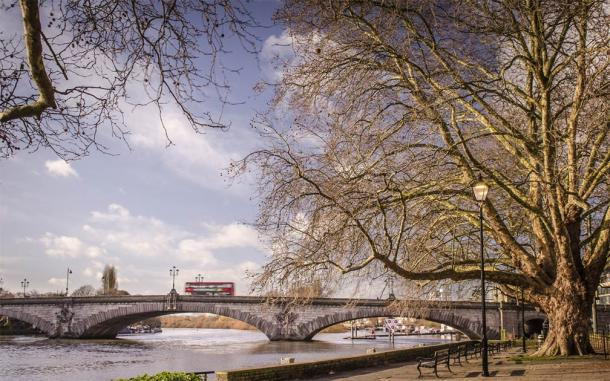 A section of the Thames River running through the west end borough of Hounslow where an amateur archaeologist has convinced the government to drain the river to finally locate the secret Grail crypt. (William / Adobe Stock)