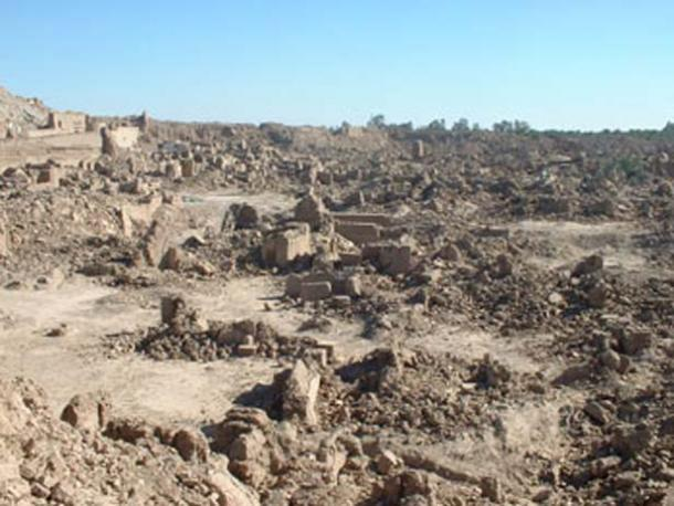 The 2000-year-old Citadel, the world's largest mud fortress, destroyed by the earthquake in Bam, Iran.