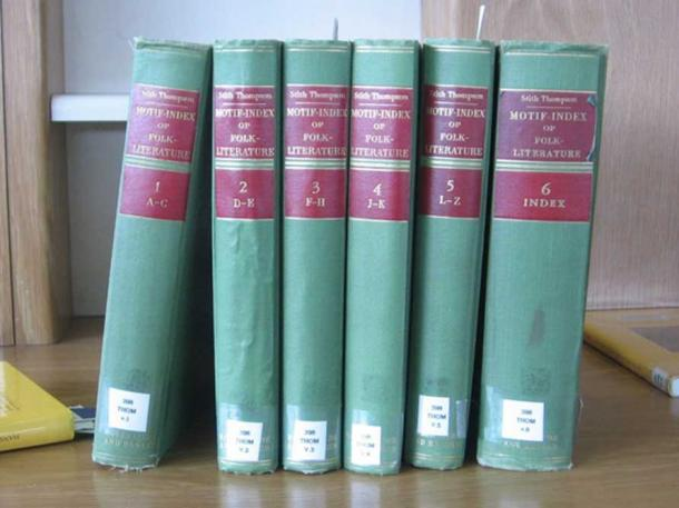 The Aarne-Thompson Motif Index in six volumes (Photo via author)